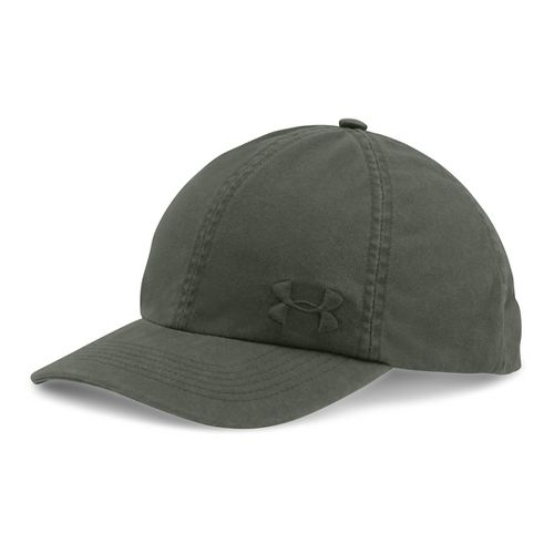 Womens Under Armour Washed Cap Headwear - Downtown Green