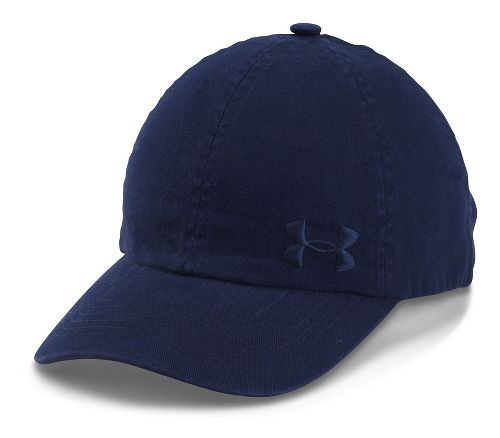 Womens Under Armour Armour Washed Cap Headwear - Midnight Navy