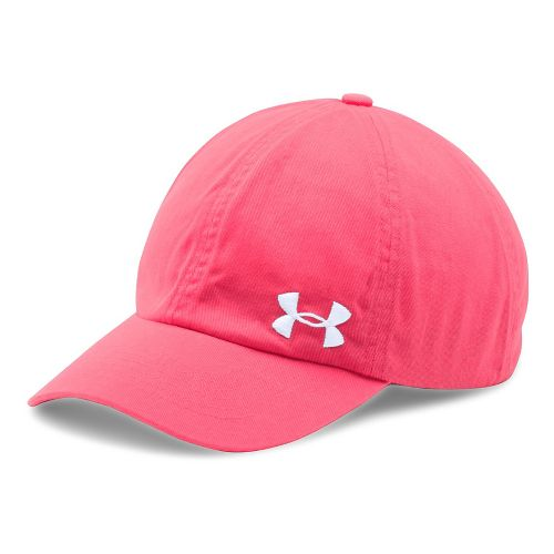Womens Under Armour  Washed Cap Headwear - Pink Shock