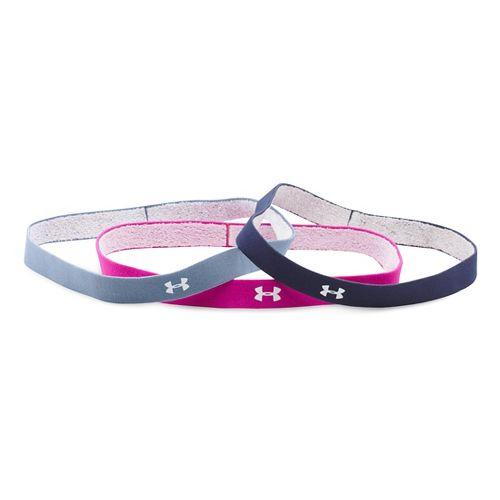 Womens Under Armourgrip Mini Headband (3PK) Headwear - Midnight Navy/Purple