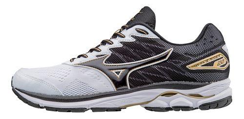 Mens Mizuno Wave Rider 20 Running Shoe - White/Black 11