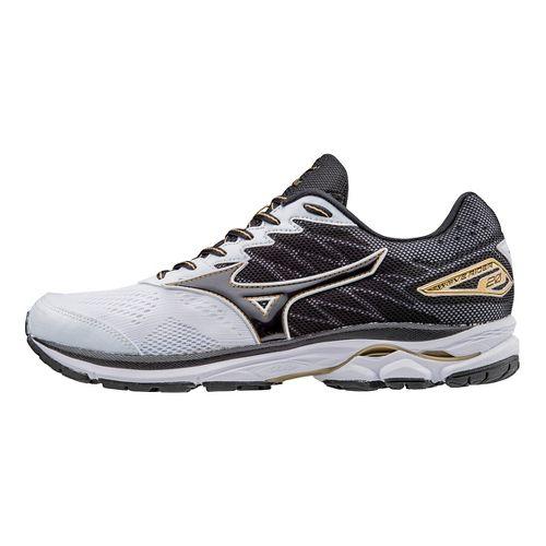 Mens Mizuno Wave Rider 20 Running Shoe - White/Black 15
