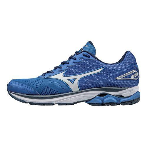 Mens Mizuno Wave Rider 20 Running Shoe - Nautical Blue/Silver 9.5