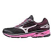 Womens Mizuno Wave Rider 20 Running Shoe - Black/Pink 6