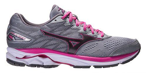 Womens Mizuno Wave Rider 20 Running Shoe - Grey/Pink 7.5