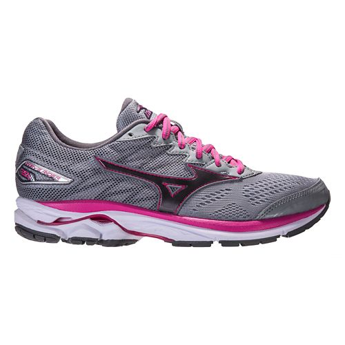 Womens Mizuno Wave Rider 20 Running Shoe - Grey/Pink 10
