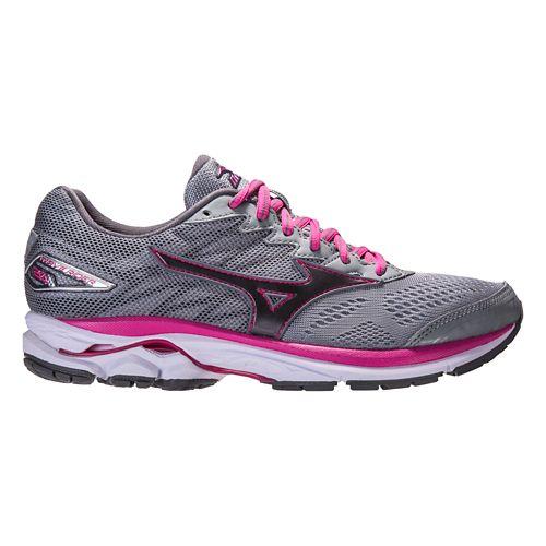 Womens Mizuno Wave Rider 20 Running Shoe - Grey/Pink 11.5