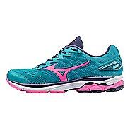 Womens Mizuno Wave Rider 20 Running Shoe - Turquoise/Pink 7.5