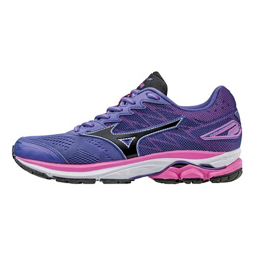 Womens Mizuno Wave Rider 20 Running Shoe - Purple/Black 10