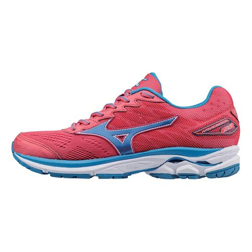 Womens Mizuno Wave Rider 20 Running Shoe - Pink/Blue 9