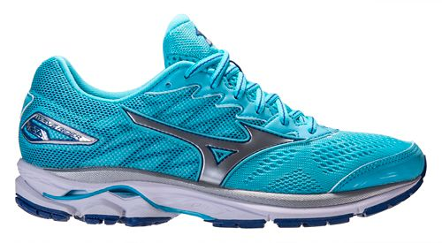 Womens Mizuno Wave Rider 20 Running Shoe - Blue 8