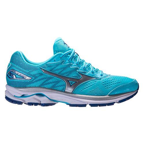 Womens Mizuno Wave Rider 20 Running Shoe - Blue 10.5