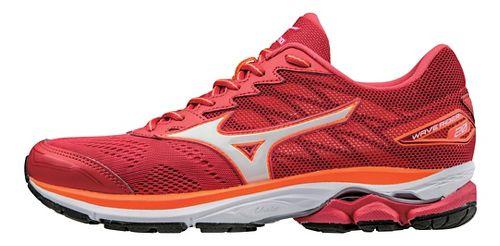 Womens Mizuno Wave Rider 20 Running Shoe - Red/White 6