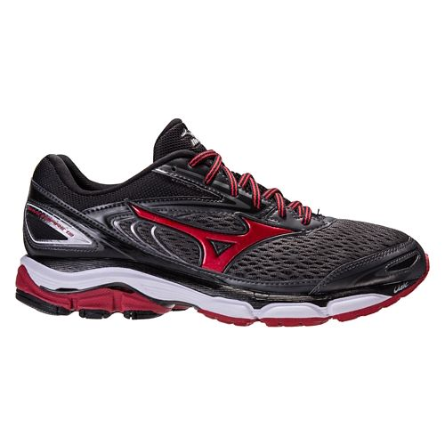 Mens Mizuno Wave Inspire 13 Running Shoe - Dark Grey/Red 10.5