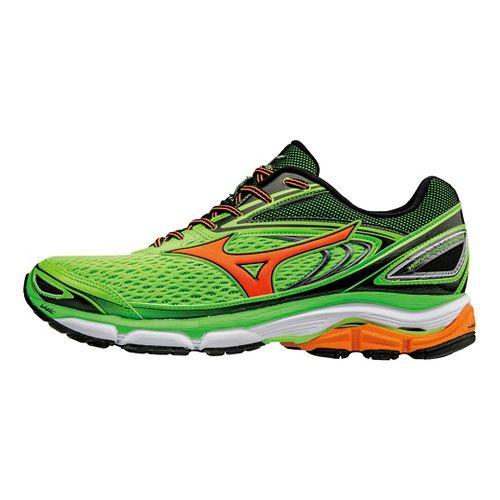 Mens Mizuno Wave Inspire 13 Running Shoe - Green Gecko/Orange 13