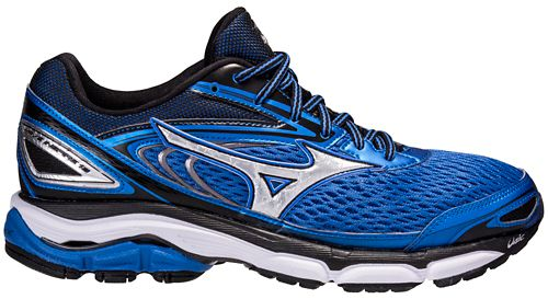 Mens Mizuno Wave Inspire 13 Running Shoe - Blue/Black 9