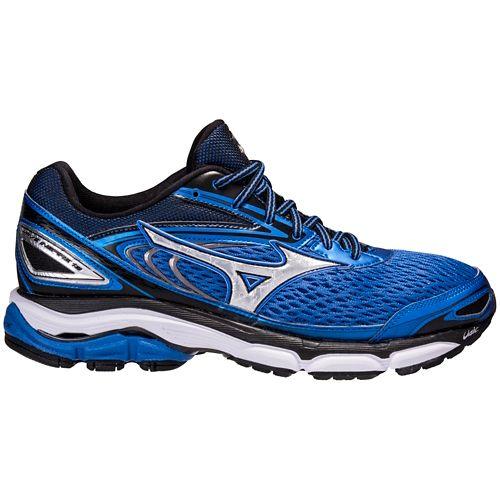 Mens Mizuno Wave Inspire 13 Running Shoe - Blue/Black 8.5