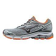 Mens Mizuno Wave Inspire 13 Running Shoe - Grey/Orange 8.5