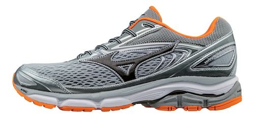 Mens Mizuno Wave Inspire 13 Running Shoe - Grey/Orange 7