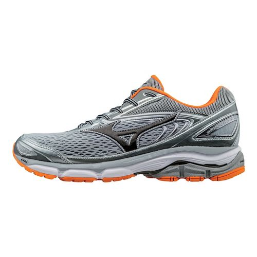 Mens Mizuno Wave Inspire 13 Running Shoe - Grey/Orange 9.5