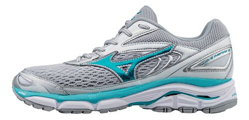 Womens Mizuno Wave Inspire 13 Running Shoe - Silver/Turquoise 10.5