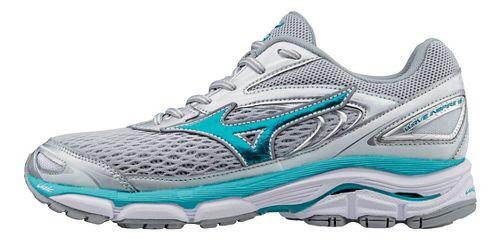 Womens Mizuno Wave Inspire 13 Running Shoe - Silver/Turquoise 6