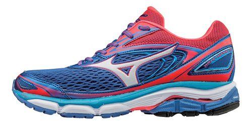 Womens Mizuno Wave Inspire 13 Running Shoe - Blue/Diva Pink 11.5