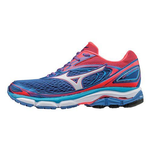 Womens Mizuno Wave Inspire 13 Running Shoe - Blue/Coral 9