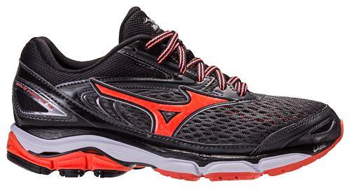 Womens Mizuno Wave Inspire 13 Running Shoe - Dark Grey/Pink 9