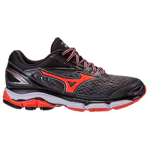Womens Mizuno Wave Inspire 13 Running Shoe - Dark Grey/Pink 10