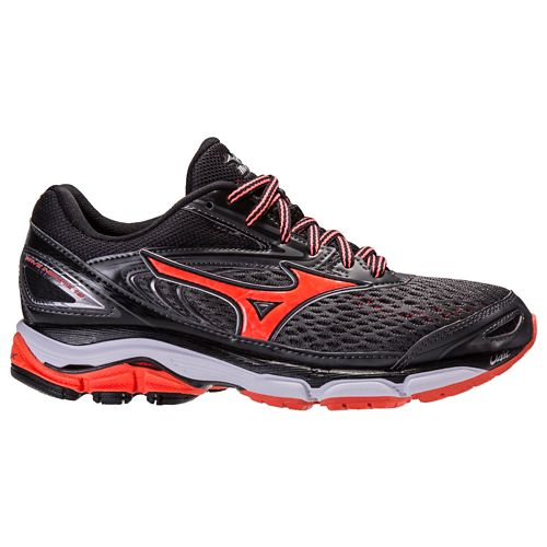 Womens Mizuno Wave Inspire 13 Running Shoe - Dark Grey/Pink 7.5