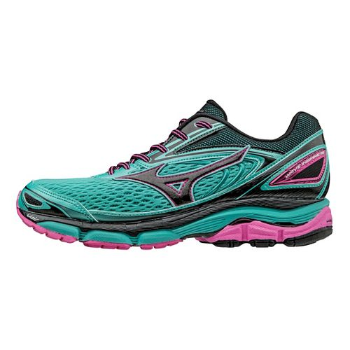 Womens Mizuno Wave Inspire 13 Running Shoe - Turquoise/Black 9.5