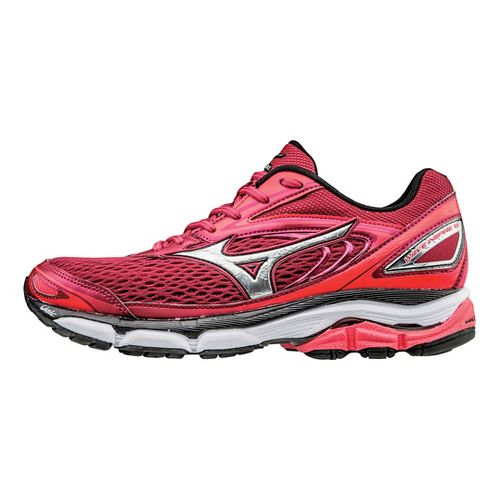 Womens Mizuno Wave Inspire 13 Running Shoe - Persian Red/Black 7.5