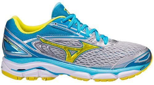 Womens Mizuno Wave Inspire 13 Running Shoe - Grey/Blue 10.5