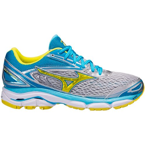 Womens Mizuno Wave Inspire 13 Running Shoe - Grey/Blue 7