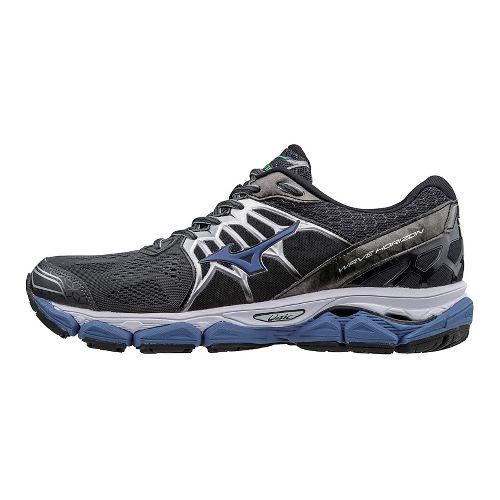 Mens Mizuno Wave Horizon Running Shoe - Black/Blue 10