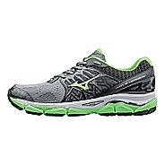 Mens Mizuno Wave Horizon Running Shoe - Grey/Green Gecko 12