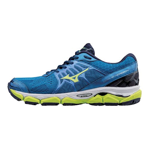 Mens Mizuno Wave Horizon Running Shoe - Teal/Yellow 10.5