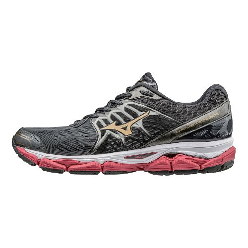 Mens Mizuno Wave Horizon Running Shoe - Dark Grey/Red 7.5