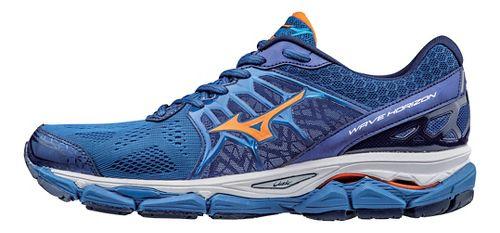 Mens Mizuno Wave Horizon Running Shoe - Nautical Blue/Orange 10.5