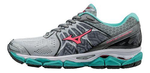 Womens Mizuno Wave Horizon Running Shoe - Silver/Turquoise 9.5