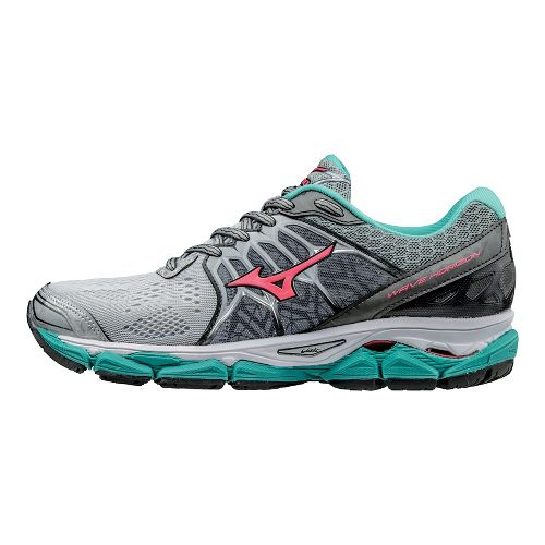 Womens Mizuno Wave Horizon Running Shoe - Silver/Turquoise 10