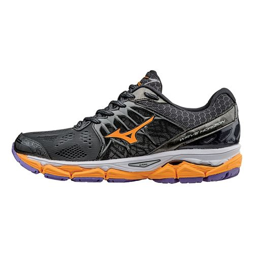 Womens Mizuno Wave Horizon Running Shoe - Dark Shadow/Orange 8.5
