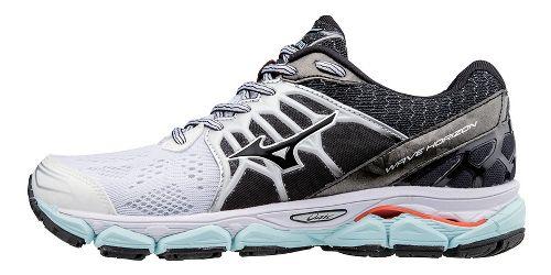 Womens Mizuno Wave Horizon Running Shoe - White/Black 10.5