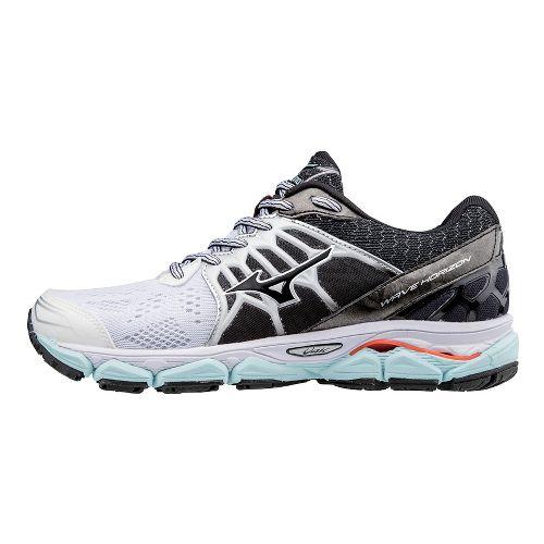 Womens Mizuno Wave Horizon Running Shoe - White/Black 6.5