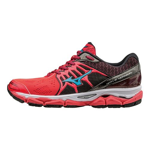 Womens Mizuno Wave Horizon Running Shoe - Diva Pink/Black 7.5