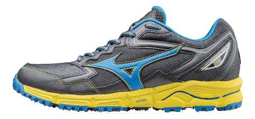 Mens Mizuno Wave Daichi 2 Trail Running Shoe - Grey/Blue/Yellow 11