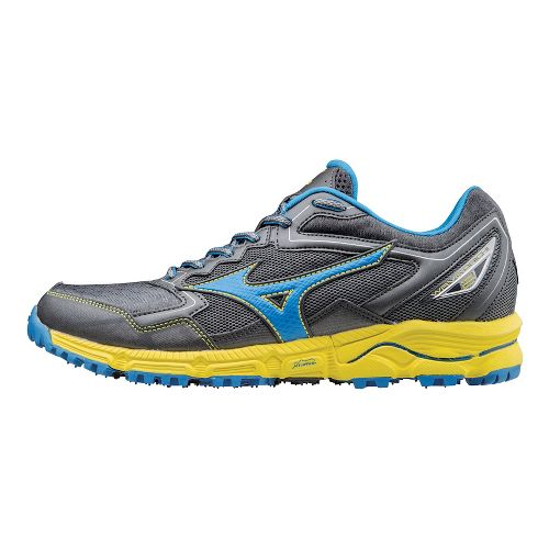 Mens Mizuno Wave Daichi 2 Trail Running Shoe - Grey/Blue/Yellow 10