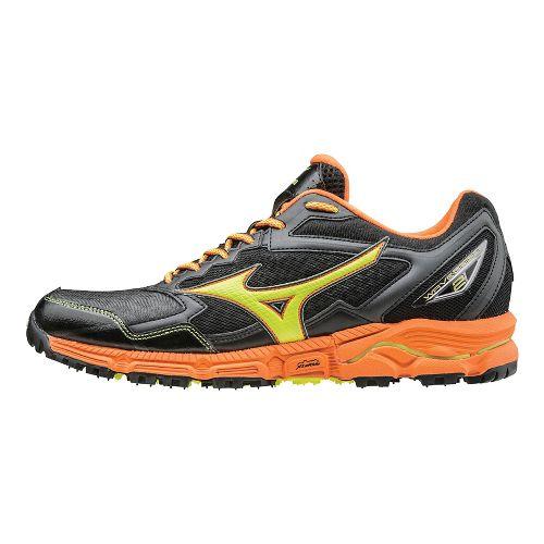 Mens Mizuno Wave Daichi 2 Trail Running Shoe - Grey/Orange 13
