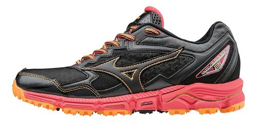 Womens Mizuno Wave Daichi 2 Trail Running Shoe - Black/Diva Pink 8